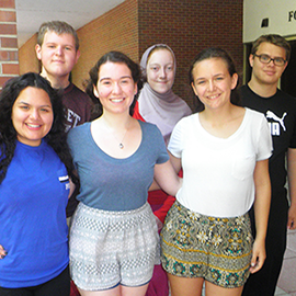 High schoolers summer institute group