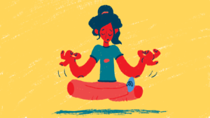 Image of person meditating