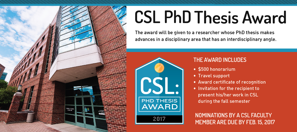 CSL PhD Thesis Award