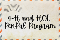 Letter with 4-H and HCE PenPal Program Text