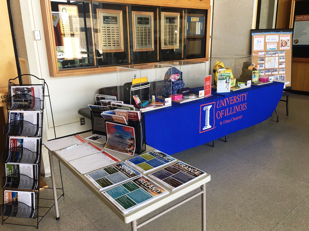 Stop by the north lobby of the Education building to learn about studying abroad