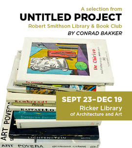 poster for Untitled Project:  Robert Smithson Library & Book Club by Conrad Bakker