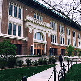 exterior image of Lincoln Hall at Illinois