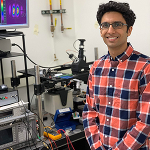 Harshil Dave in his lab.