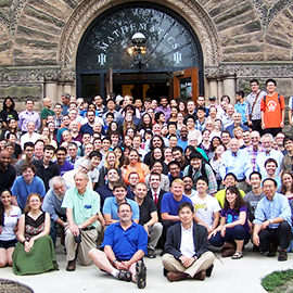 Department of Mathematics group shot outside of Altgeld Hall