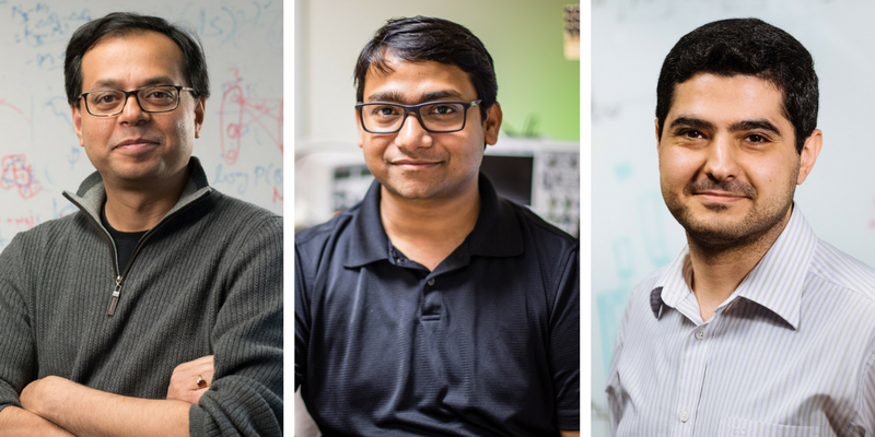 CSL PhD student Nirupam Roy and CSL Professors Romit Roy Choudhury and Haitham Hassanieh,