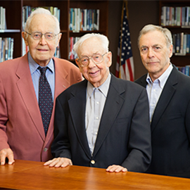 from left, Winton Solberg, Maynard Brichford, and William Maher