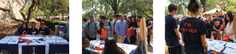 Students at quad day