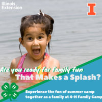 Girl in a lake ~ are you ready for family fun that makes a splash?