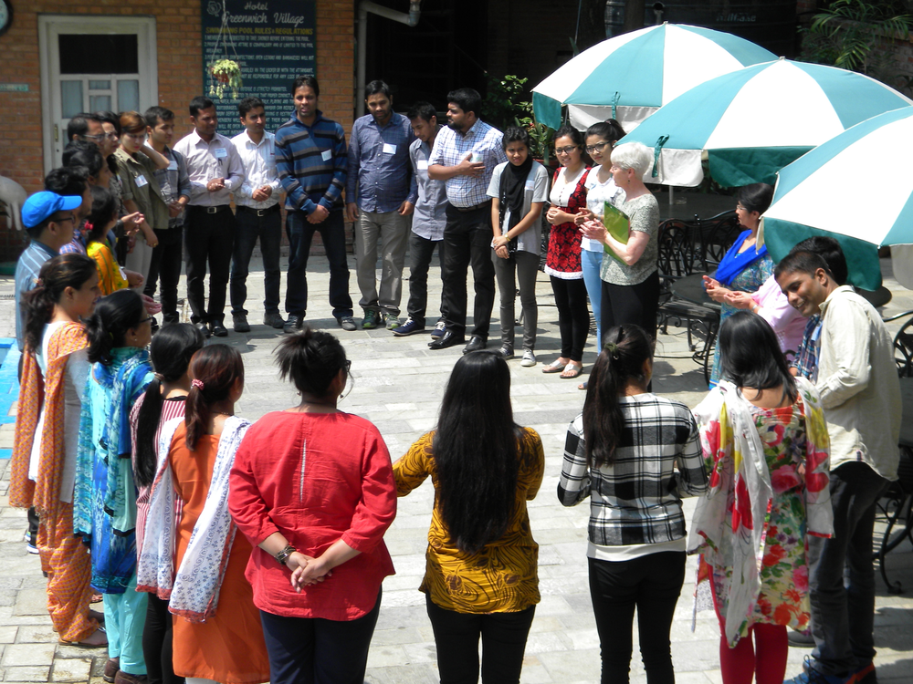 Extenstionists come together for a daylong training on overcoming gender and nutrition challenges in extension.