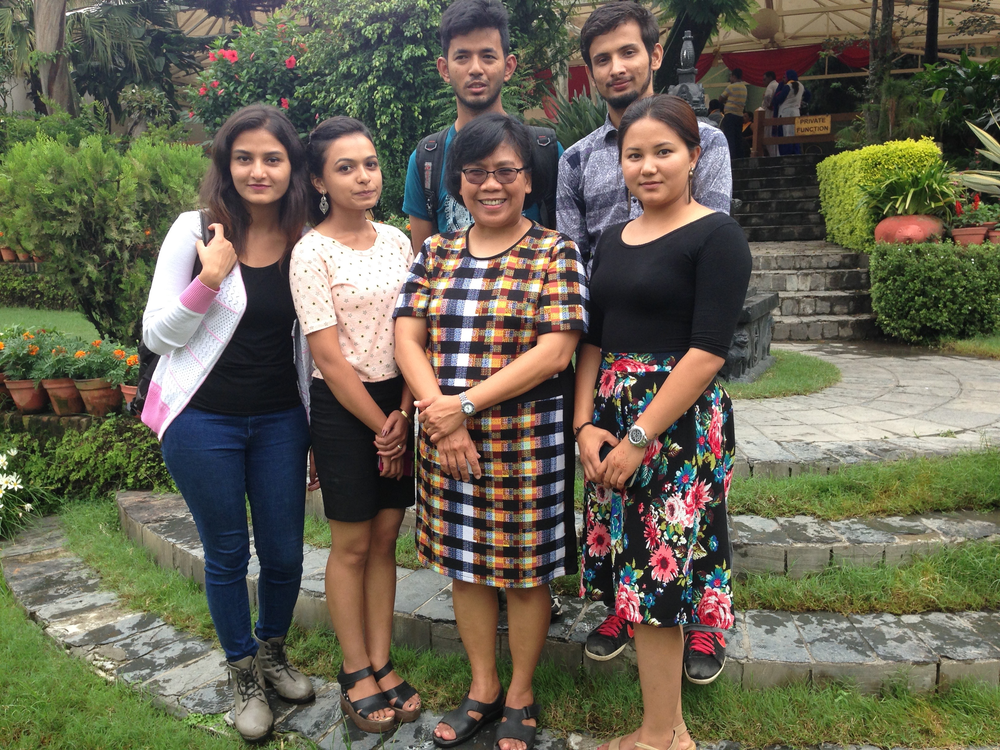 YPARD members finish a communication skills workshop with Dr. Lulu Rodriguez.