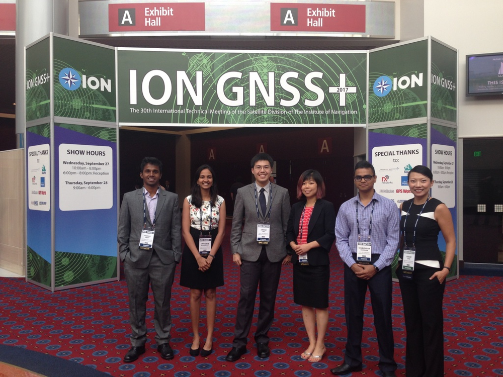 Bhamidipati (second from left), Gao (far right), and their research team