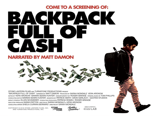 """Screening of """"Backpack Full of Cash"""" at College of Education"""
