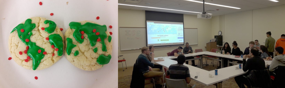 The Illinois Cartographic Society hosted its first annual holiday party on Monday December 11th in the Russell Seminar Room.