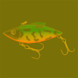 image of how a human sees a fishing lure