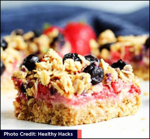 Healthy Red White and Blue Blueberry Crumb Bars