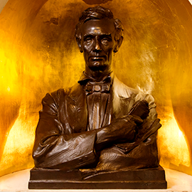 Abraham Lincoln bust in Lincoln Hall