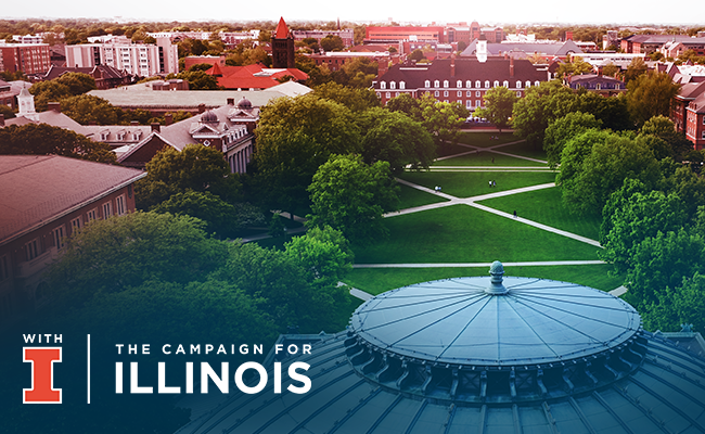 The Quad - With Illinois Campaign logo