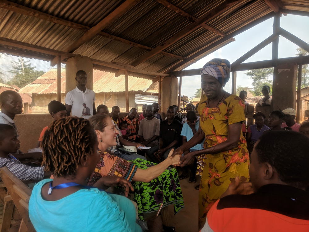 INGENAES and Cuttington University Research Team Meet with Community in Bong County prior Conducting Research on Gendered Access to Extension Services