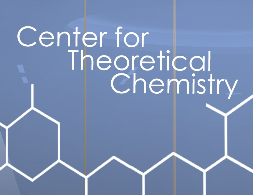 graphic/logo: white words (Center for Theoretical Chemistry) against a light blue background, with a graphic that looks like a honeycomb pattern (white against blue)