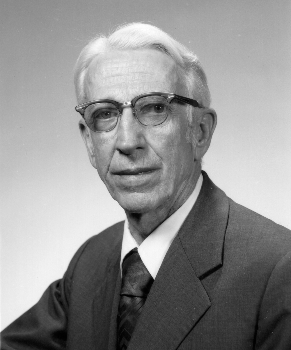black and white headshot of Dr. Harold Snyder