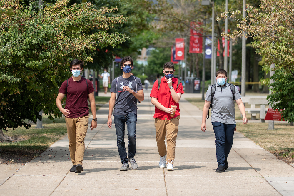 Students study during fall semester on East campus.