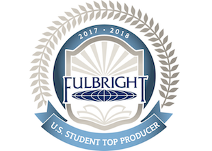 logo for top producer of u.s. fulbright students