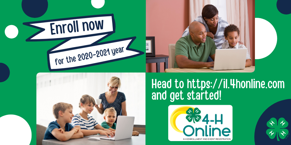 Enroll now for the 2020-2021 year. Head to https://il.4honline.com and get started!