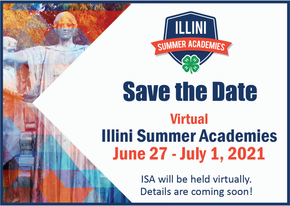 save the date for Illini Summer Academies