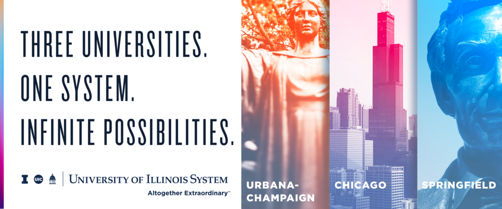 Billboard ad for University of Illinois System