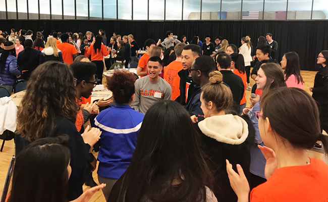 About 180 LAS students attended a recent Strengths Finder workshop, which was designed to teach leadership skills and direct participants how to help new students acclimate to college. (Photo courtesy of Murillo Soranso.)