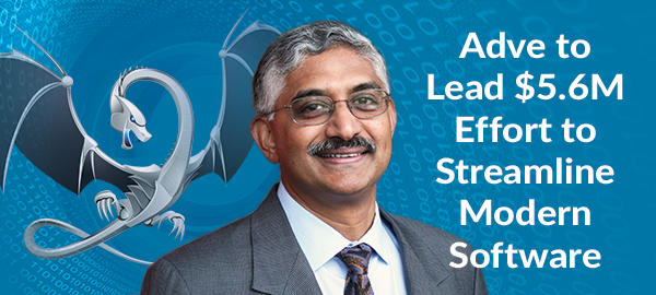 Professor and Interim CS Department Head Vikram Adve will lead a five-year, $5.6 million effort to reduce the complexity and size of modern software systems.