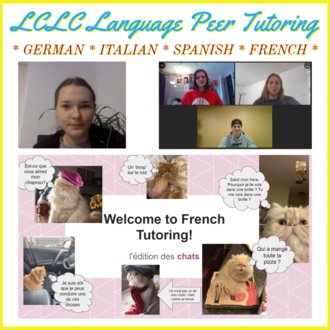 Italian tutor Sofiya (top right), current & future German tutors (top left), and French Cats (bottom)