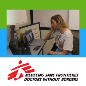 LCLC French Peer Tutor Nikki & Doctors Without Borders logo