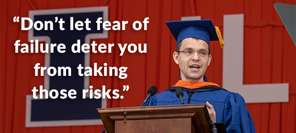 Max Levchin (BS CS '97) addresses the University of Illinois Class of 2018.