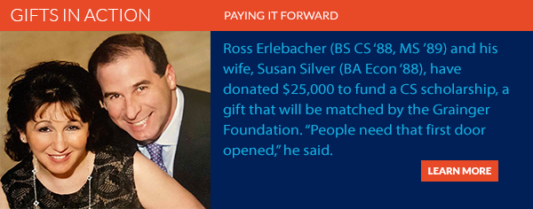 CS alumnus Paul Nash pays it forward with CS Visionary Scholarship donation.