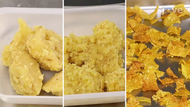 Stages of cornflake processing