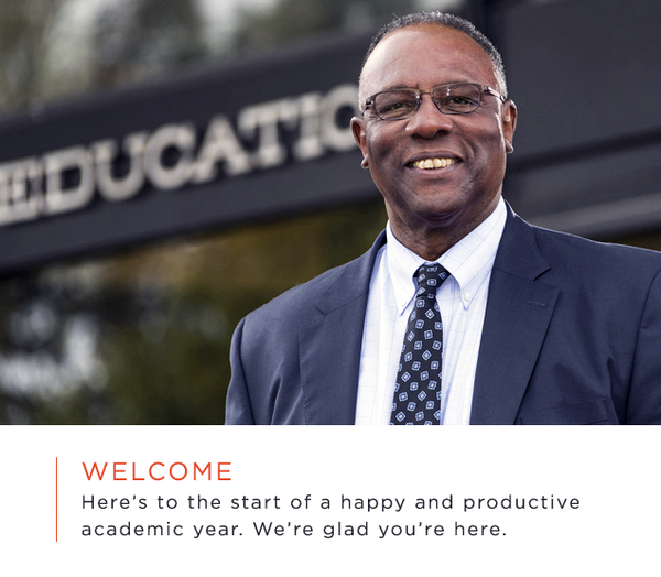 A Fall 2018 Message from Dean James D. Anderson