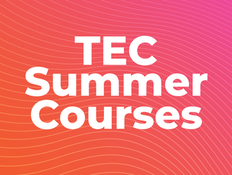 """Graphic that says """"TEC Summer Courses"""""""
