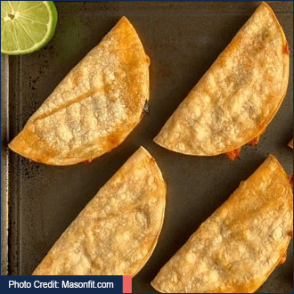 Photo Credit: Masonfit.com with link to baked chicken tacos recipe