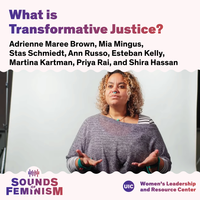What is Transformative Justice? text in gradient purple font