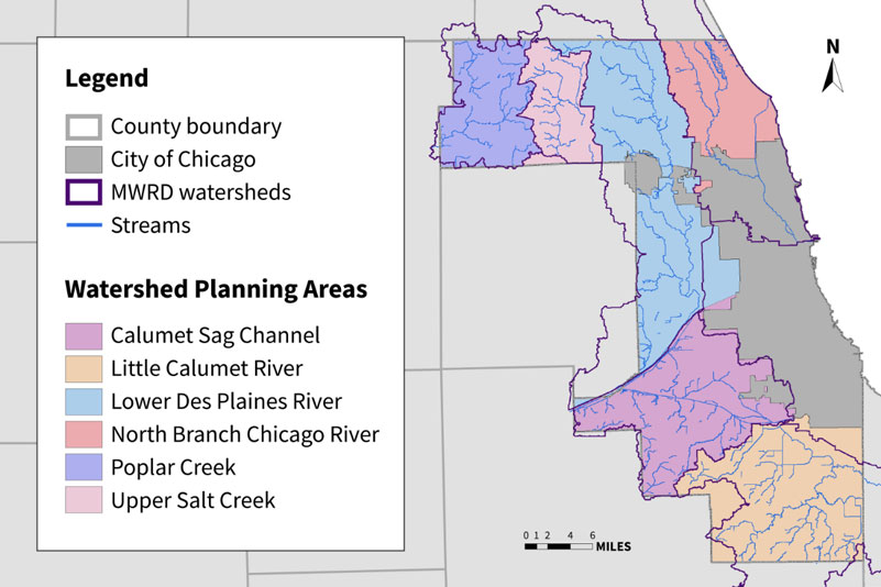 Metropolitan Water Reclamation District's watershed management areas