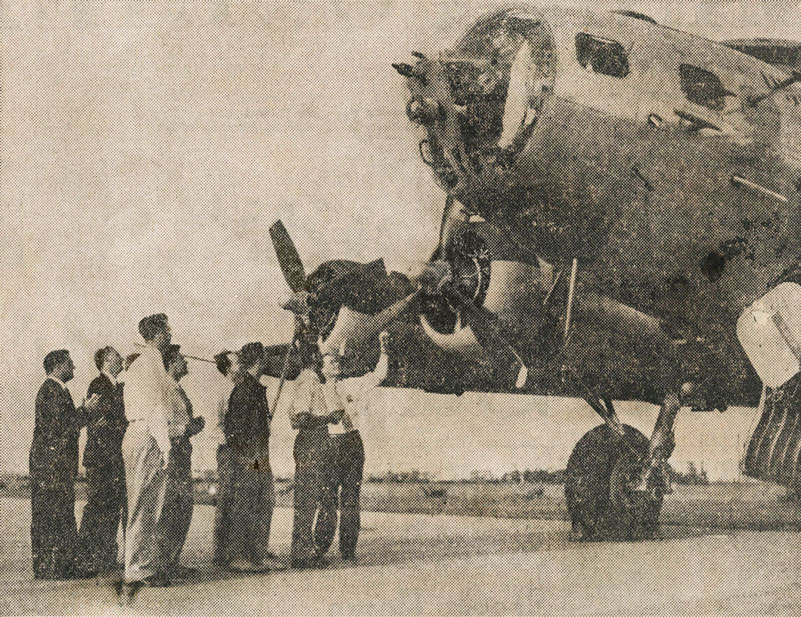 historic image of B-17 plane that was turned into a weather forecasting station