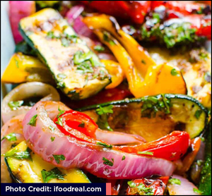 Balsamic Grilled Vegetables with link to recipe source