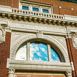 Lincoln Hall main entrance exterior