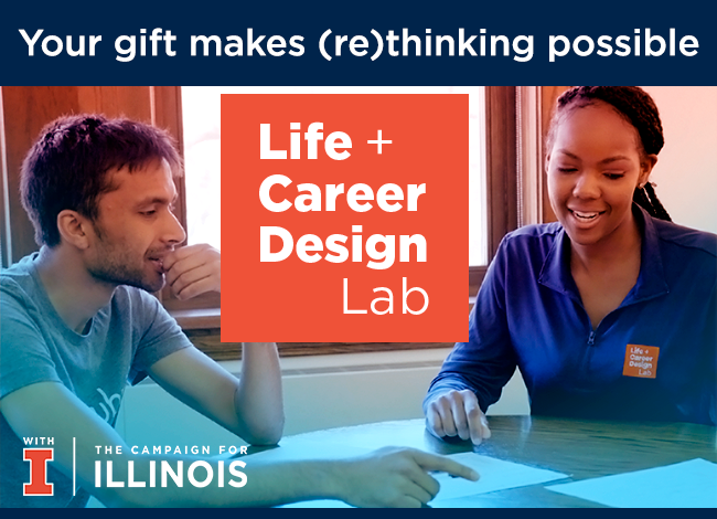 Your gift makes (re)thinking possible - Life + Career Design Lab