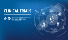Clinical trials blue image