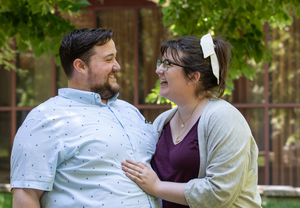 Kevin Johnson LAS '15 and Madeleine Biagioli ENG '16 celebrate their engagement