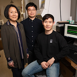 Jie Chen with graduate students Kook Son and Jae-Sung You