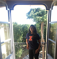 Psychology Leader Insia Hakim spent the 2018 spring semester in Pavia, Italy, as part of the Illinois Abroad and Exchange Program